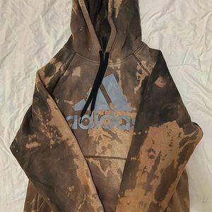 DIY bleached adidas hoodie